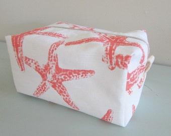 Nautical Makeup Bag -  Makeup Bag - Cosmetic Bag - Large Makeup Bag - Waterproof Makeup Bag