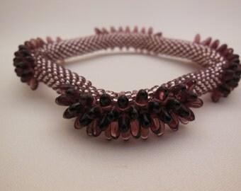 Bead Crochet Bangle: Porcupine Squared