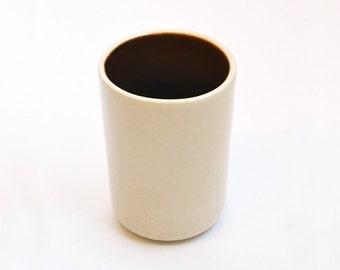 Ceramic Cups Brown and Cream- Set of 2