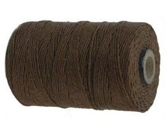 10 Yards, Walnut Brown Irish Waxed Linen, 4 ply,