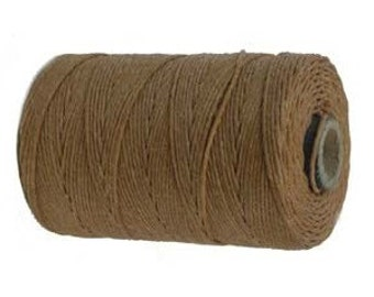 10 yards, Butterscotch Waxed Linen, 4 ply, Irish Waxed Linen