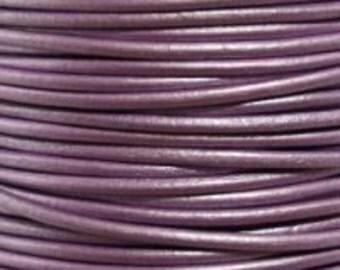 3 yards - 1.5 mm Leather Cord - #53, Metallic Chandi - 9 feet