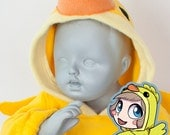 BABY & TODDLER Chick Hoodie, Costume, Vest, Jacket, Hand-made, Cosplay