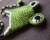 Crochet Frog Earflap Hat