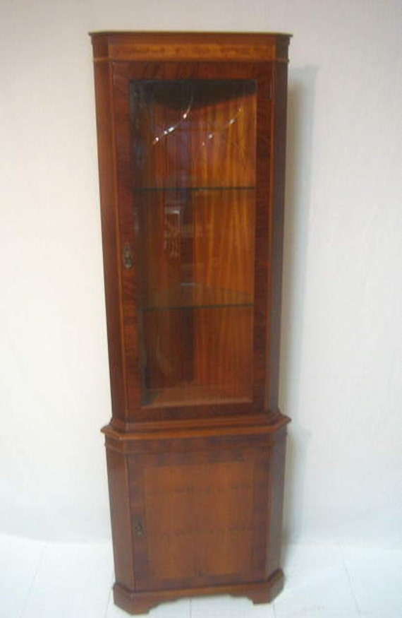 Mid Century Modern China Cabinet Painted