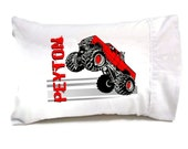 Monster Truck Kids Travel Pillow