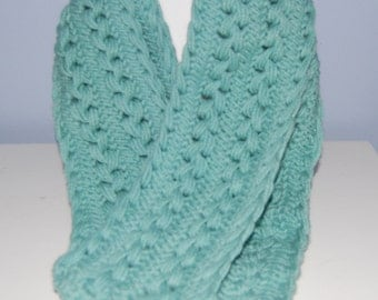 Sage Green Hairpin Lace Scarf