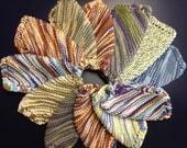 Hand-knit Cotton Washcloths