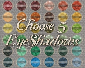 Mineral Eyeshadow: Choose 5 (Five) Jars of Loose Eye Shadow, Vegan Makeup, Natural Cosmetics, Ships Out in 5-7 Days