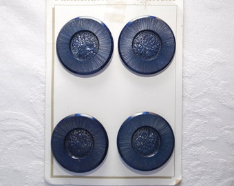 Large Vintage Plastic Buttons Set of Four