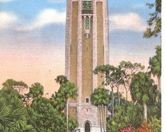 Vintage Linen Postcards...The Singing Tower, Mountain Lake Sanctuary, Florida...Unused..no. 1331
