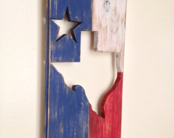 Texas state wood cut out