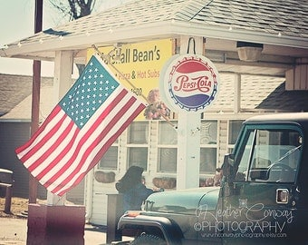 Rustic America, Instant Digital Download, Small Town USA, American Diner, American Flag United States, Pepsi Cola, Blue Truck, Country Life