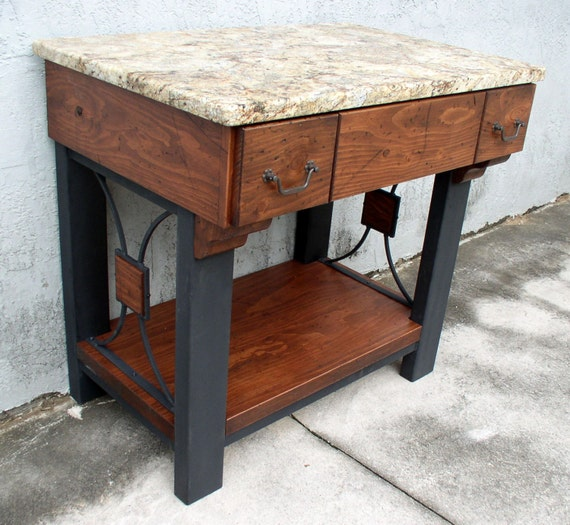 Industrial Vanity: Items Similar To Vanity Named SAVANNAH Vintage Industrial