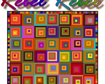 REBEL REBEL - Quilt-Addicts Patchwork Quilt Pattern