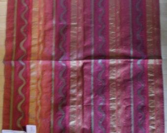 "Designer Fabric Upholstery Sample - Duralee Fabrics Pattern Flame 26"" x 26"""