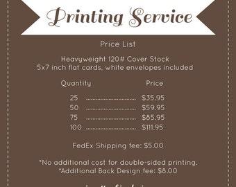 5x7 Professional Printing Service, prints & envelopes