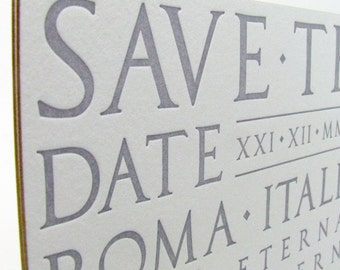 Rome Save the Dates