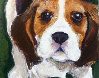 Custom Pet Portrait in Acrylic.