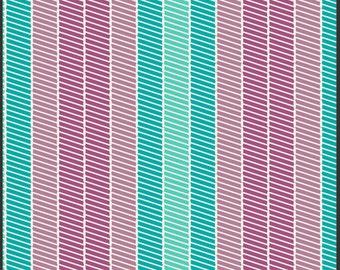 Stitchery in Aqua - Bespoken - Patricia Bravo - Art Gallery Fabrics - 1 Yard