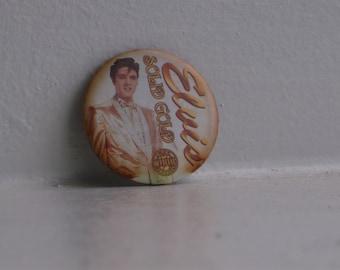 Vintage Elvis Solid Gold Pinback Pin