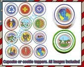 Boy Scout Eagle Tiger Cub Edible cookie toppers cupcake tops party decoration court of honor