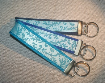 Blue Vines Key Fob