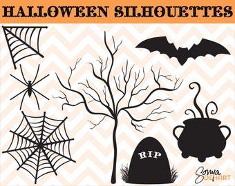 80% OFF Sale Halloween Clipart, Spider Clipart, Bat Clipart, Web Clipart, Spooky Tree Clipart, Halloween Clip Art, Spider Clip Art