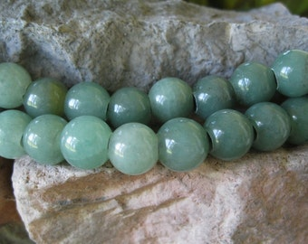 Large Hole Bead Aventurine 2.5mm Hole 8 Big 12MM Round Beads Fit Leather