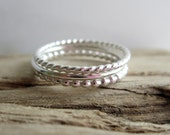 Silver Trio Stacking Set - Set of 3