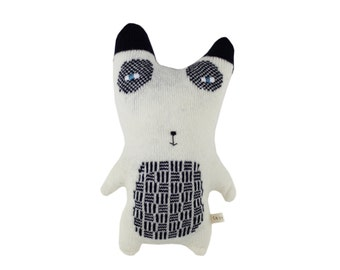 Panda Bear: Pascal the Panda - soft knitted toy