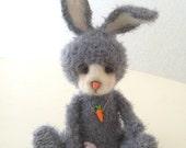 Mart, a classic artist bear, collectible, OOAK, antique style, crochet, bunny
