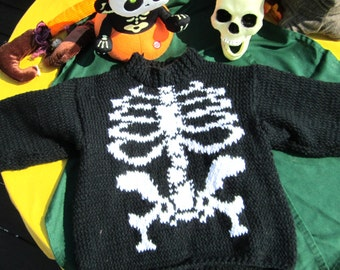 Hand knit Skeleton Sweater
