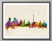 Moscow Skyline, Moscow Russia CityscapeArt Print (507)