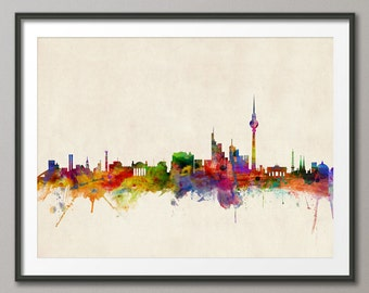 Berlin Skyline, Berlin Germany Cityscape Art Print (503)
