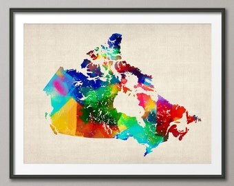 Canada Rolled Paint Map, Art Print (37)