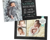 Birth announcement template -  Baby Nathan  - E902