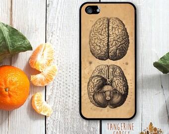 Vintage Medical Brain Illustration. Choose iPhone 4 // 4s // 5 // 5s // 5c // 6 // 6 Plus