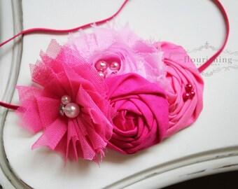 Pretty in Pink- pink headband, baby headbands, newborn headbands, hot pink headbands, photography prop