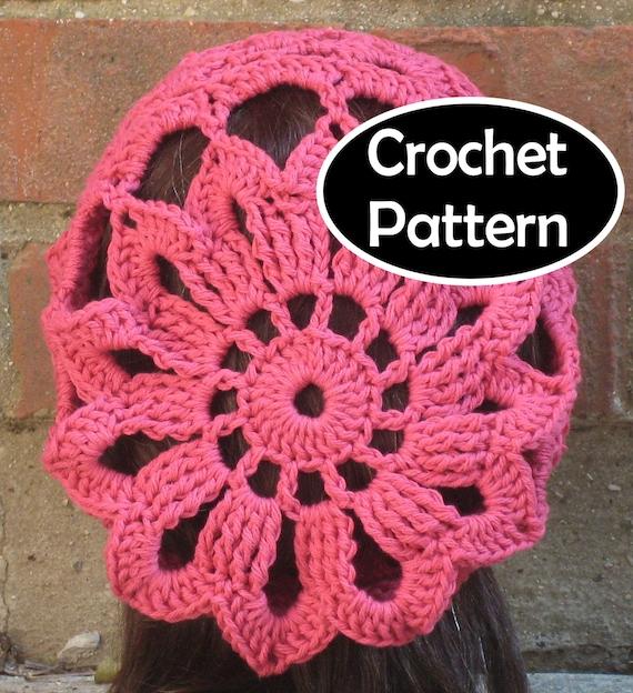 CROCHET HAT PATTERN Instant Download Azalea Summer Slouchy
