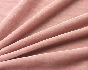 Fine Stylish Silk Velvet,  vintage pink color, Fancy Fabric for evening dress/shirts/skirts/blouses, by the yard
