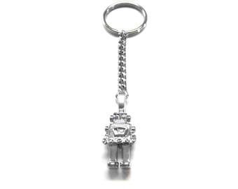 Metal Robot Key Chain