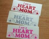 HEART MOM decal