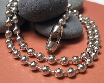 """18"""" of  #10 Ball Chain With Connectors,   10 pcs"""
