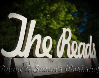 Sweatheart table Family name sign Last Name sign custom sign wedding sign couples sign Wedding gift
