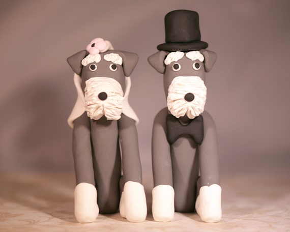 etsy wedding cake topper dog schnauzer wedding cake topper by cocktheshutter on etsy 14051