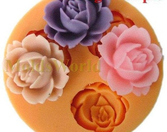 A050 Rose Flower Silicone Silicon Molds Moulds