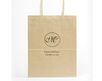Monogrammed Wedding Welcome Bags - Monogram Hotel Guest Bag Personalized Party Favors Foil Stamped Tote Gift Rehearsal Anniversary Custom