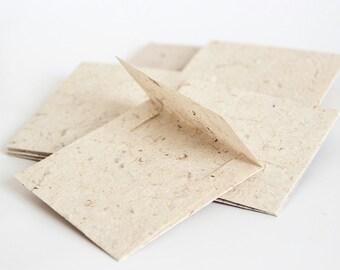 "10 pcs - 3 5/32"" (8 cm)  Rustic paper envelopes - Handmade paper envelopes"