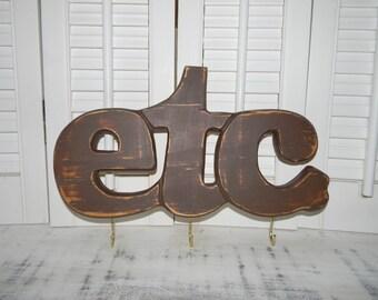 Wooden Etc Sign Key Holder Wall Decor